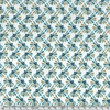 Popeline Inca bleu vert 20 x 140 cm
