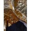 Tissu matelassé doré envers noir 20 x 140 cm