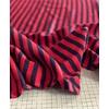COUPON de maille polo marine et rouge 1m60 x 138 cm
