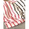 COUPON de jersey fin corail et gris fond blanc 2m20 x 165 cm