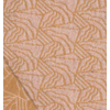 Jacquard Prisme abricot doré 20 x 150 cm