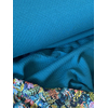 Jersey mini matelassé uni paon 20 x 140 cm