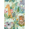 Tissu Our Planet Animaux fond menthe 20 x 110 cm