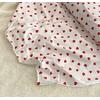 Jersey 95% coton 5% spandex coeur-coeur blanc cassé 20 x 140 cm