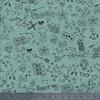 Tatouée pour la journée poly/coton menthe glacée 20 x 140 cm