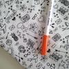 Feutre pour textile pointe 1mm coloris orange