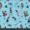 Tissu Martine fond bleu 20 x 140 cm