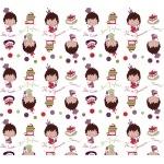 Tissu Petits Gourmands par Cré-Enfantin 50x140 cm
