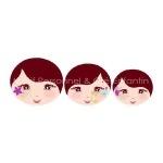 Lot de 3 visages imprimés sur tissu