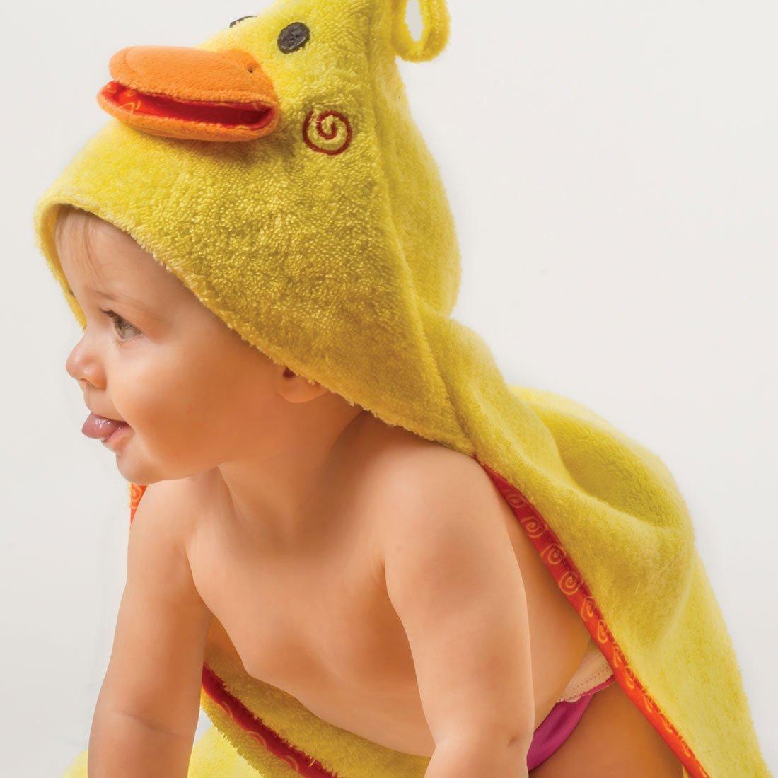 Serviette de bain bébé Puddles le canard