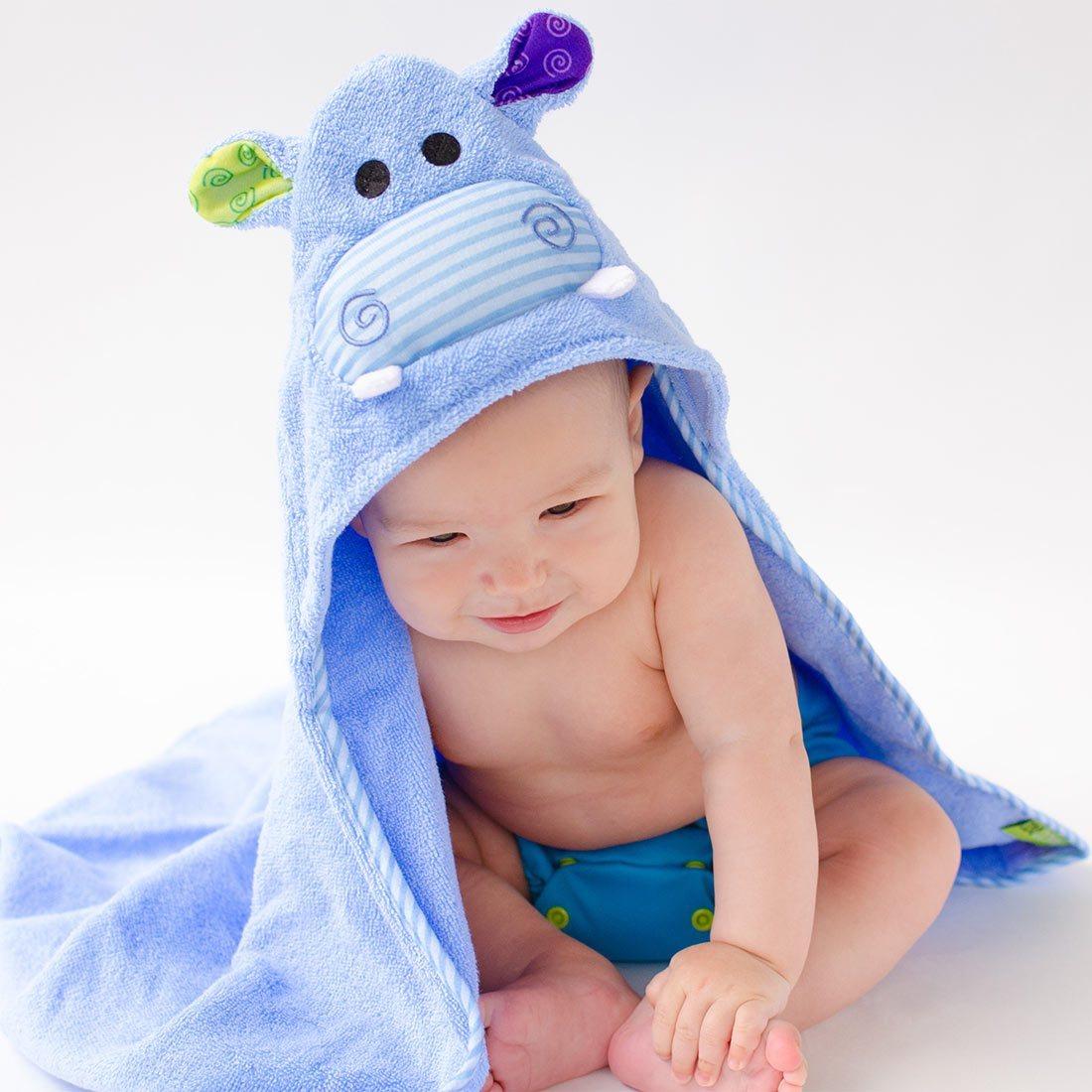 Serviette de bain bébé Henry l\'hippo