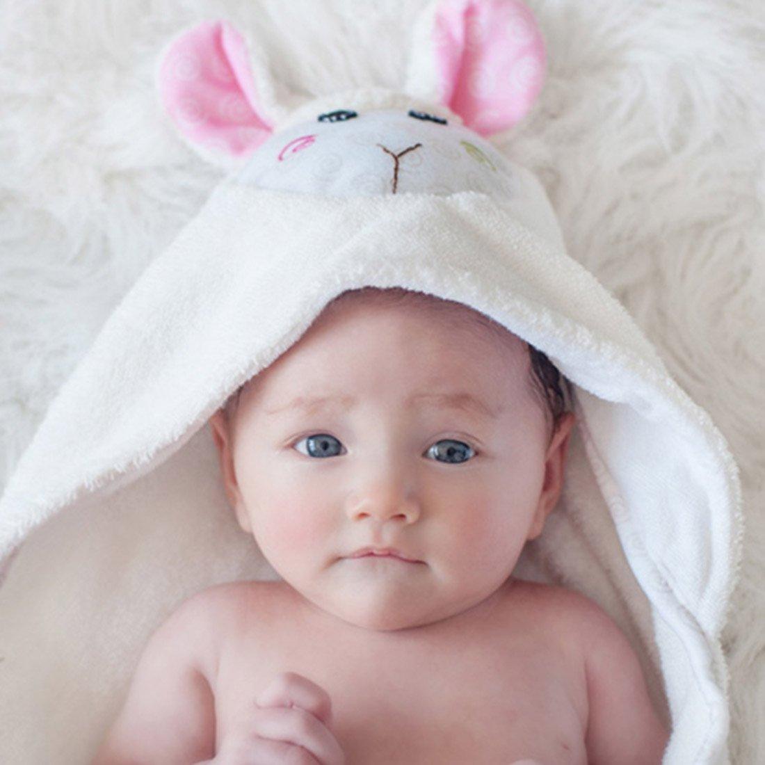 Serviette de bain bébé Lola l\'agneau