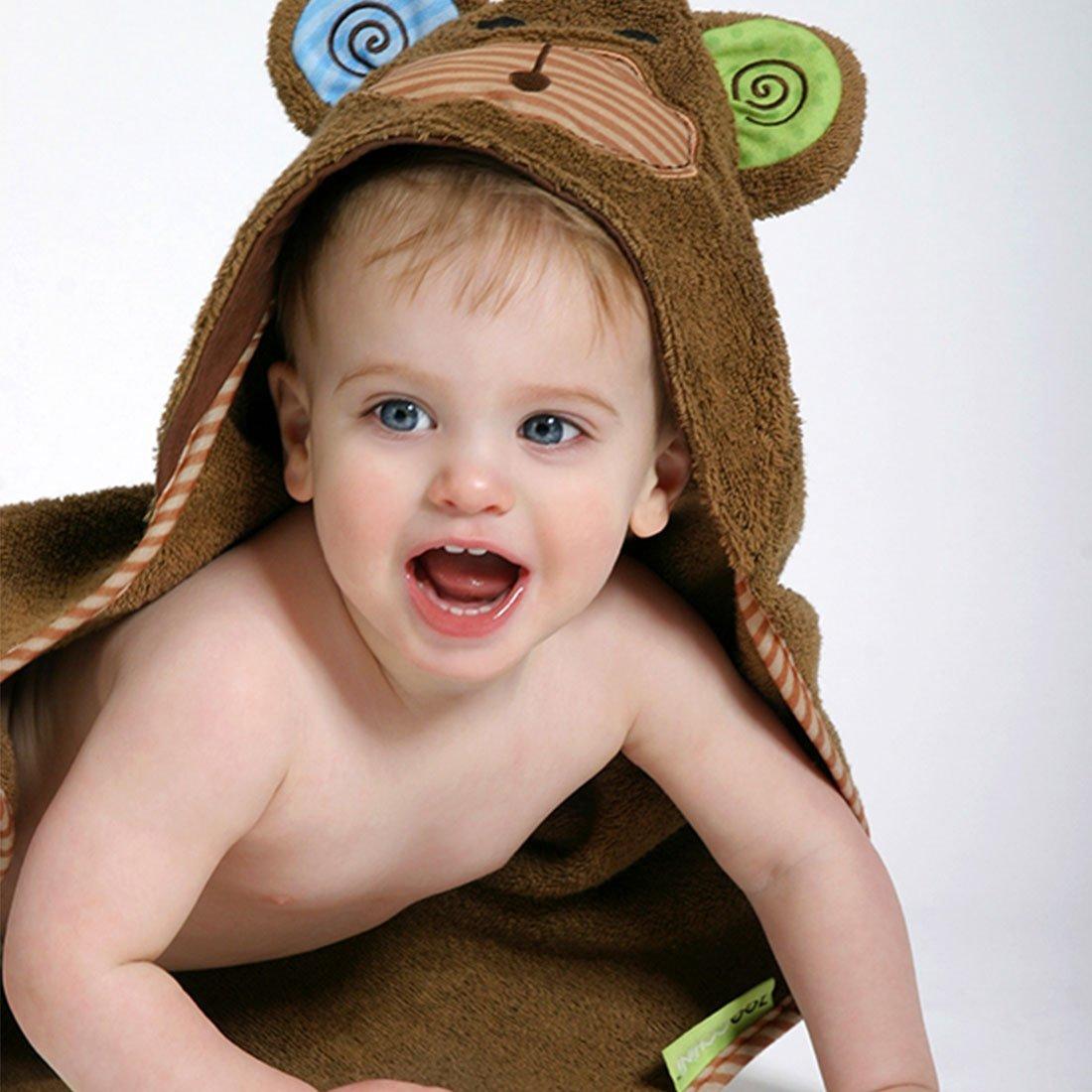 Serviette de bain bébé Max le singe