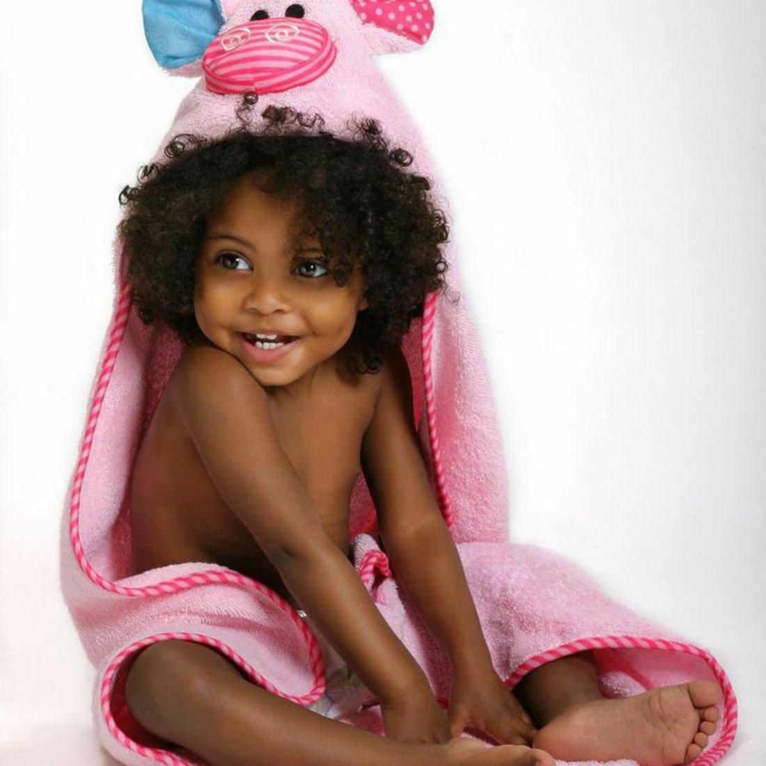 Serviette de bain bébé Pinky le petit cochon