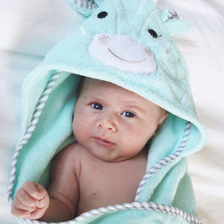 Serviette de bain bébé Jamie la girafe