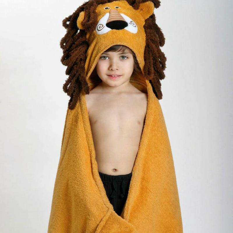 Serviette de bain enfant Leo le lion