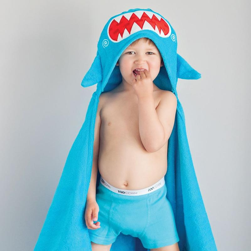 Serviette de bain enfant Sherman le requin