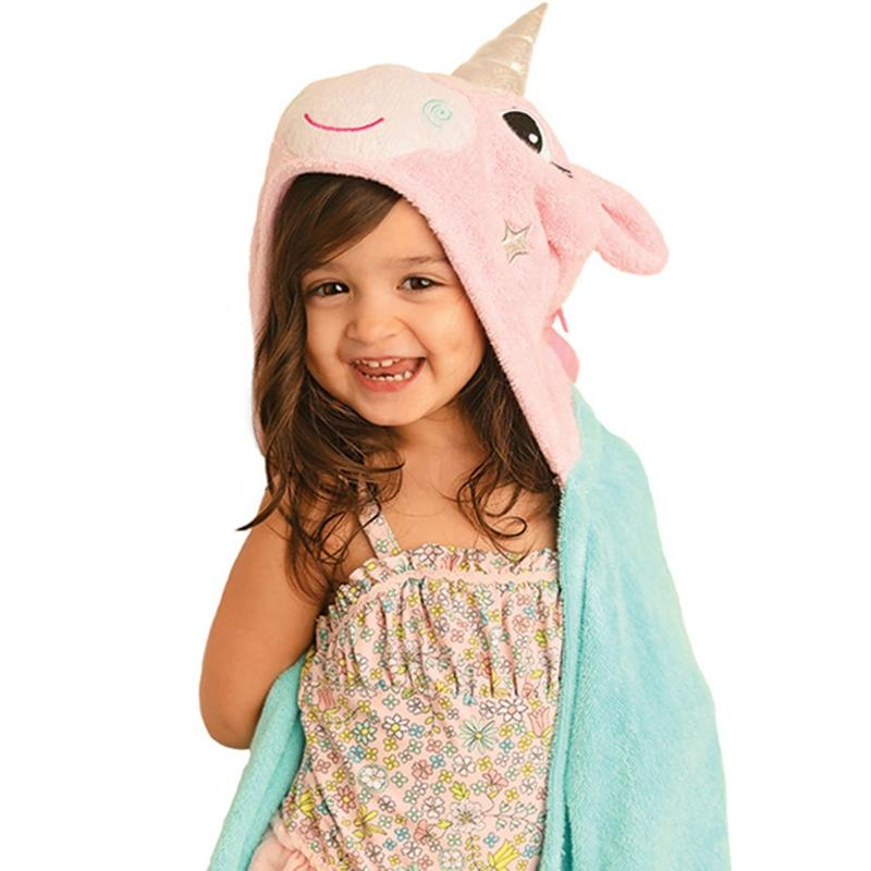 Serviette de bain enfant Allie la licorne