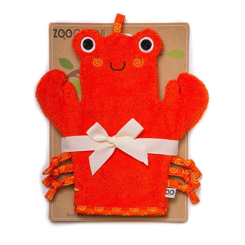 Gant de toilette marionnette Charlie le crabe