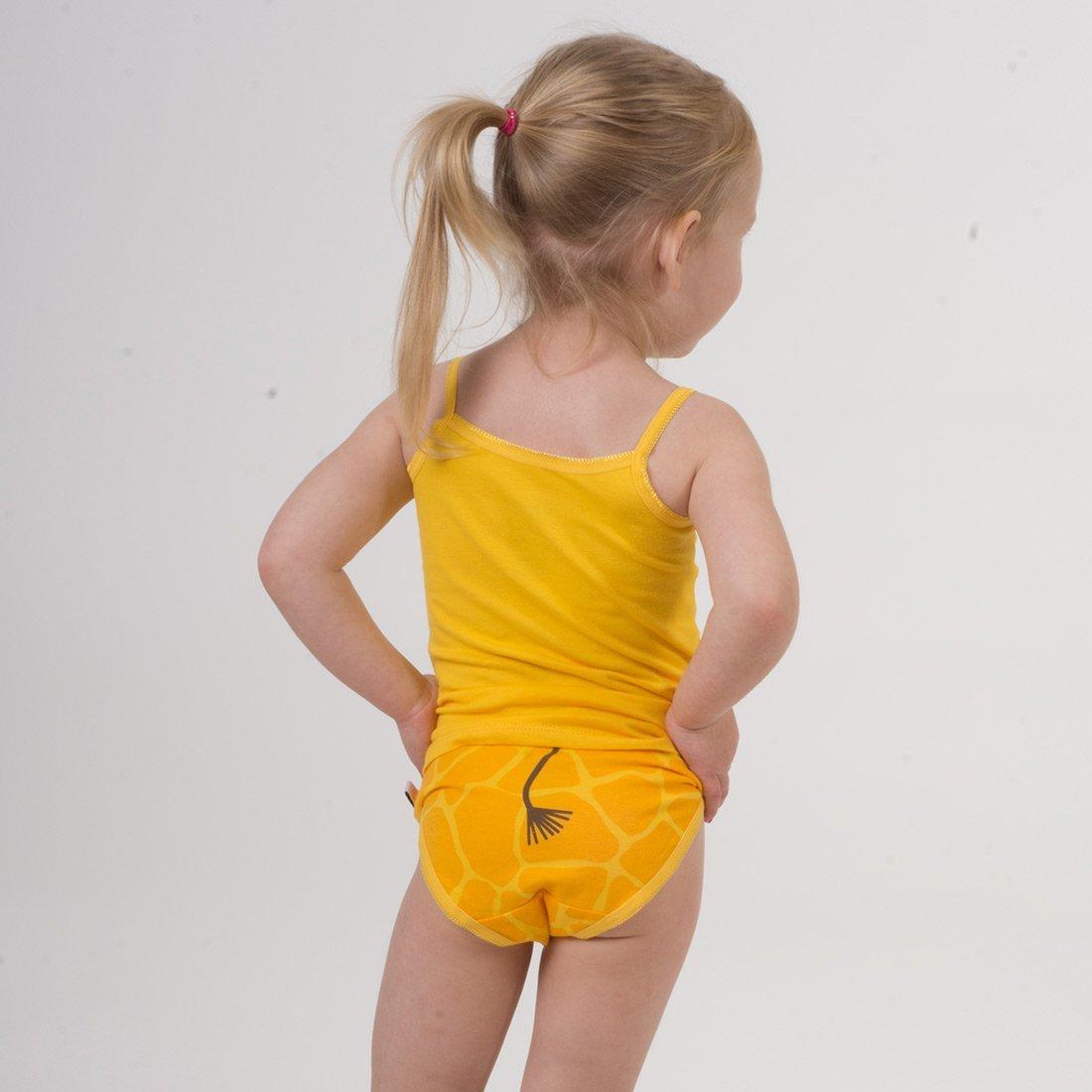 Ensemble fille débardeur/culotte Girafe/jaune