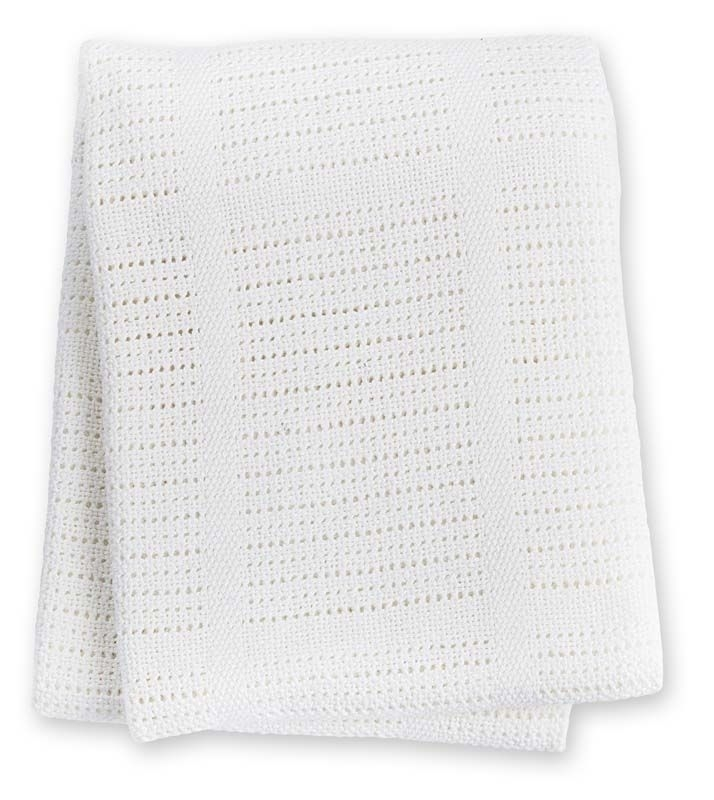 Couverture tricot blanche