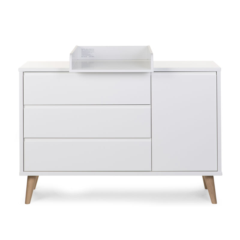 RETRO RIO WHITE COMMODE EXTRA LARGE 3T+1P + PLAN A LANGER