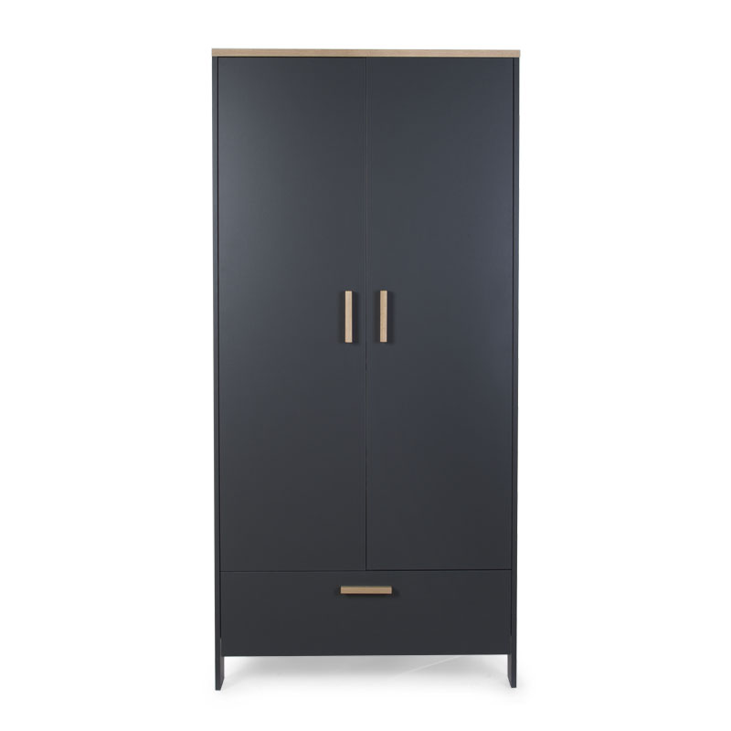 PARIS DARK OAK/ANTHRA GARDEROBE 2 PORTES
