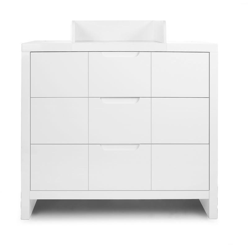 QUADRO WHITE COMMODE 3 TIROIRS + PLAN A LANGER