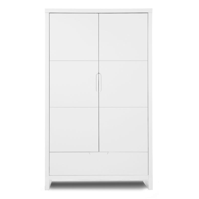 QUADRO WHITE GARDEROBE 2 PORTES + 1 TIROIR