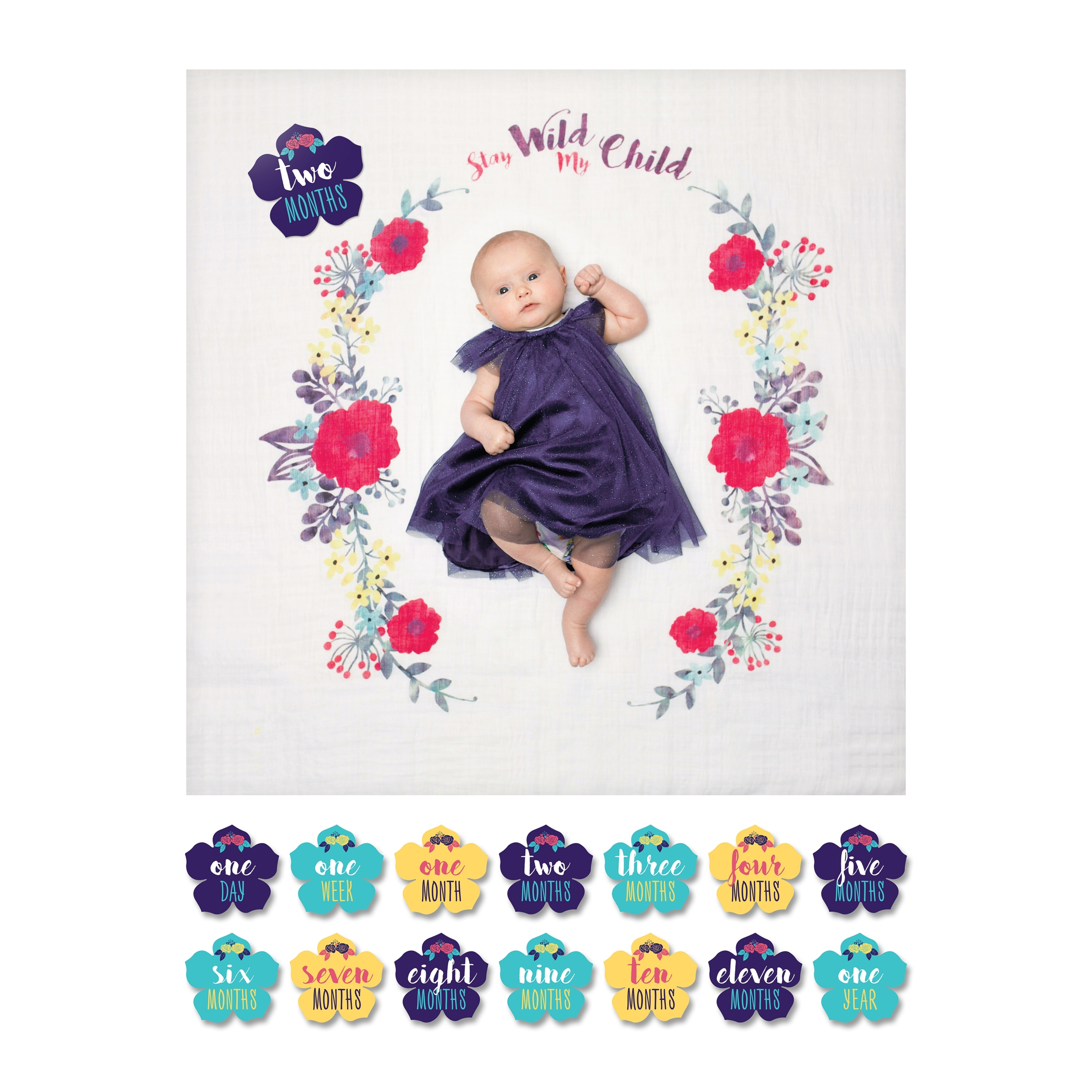 Lange en coton & cartes Stay wild my child