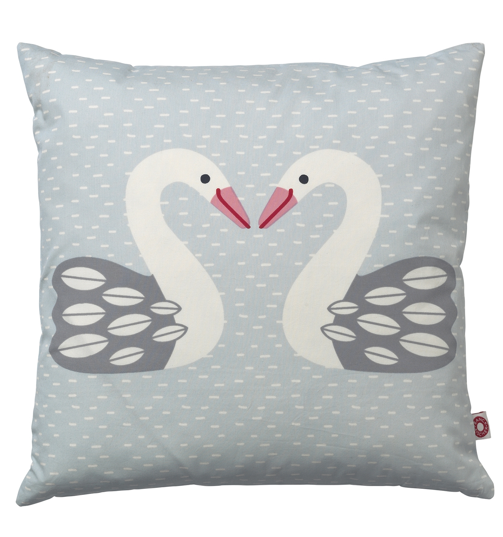 Almue coussin cygne clair