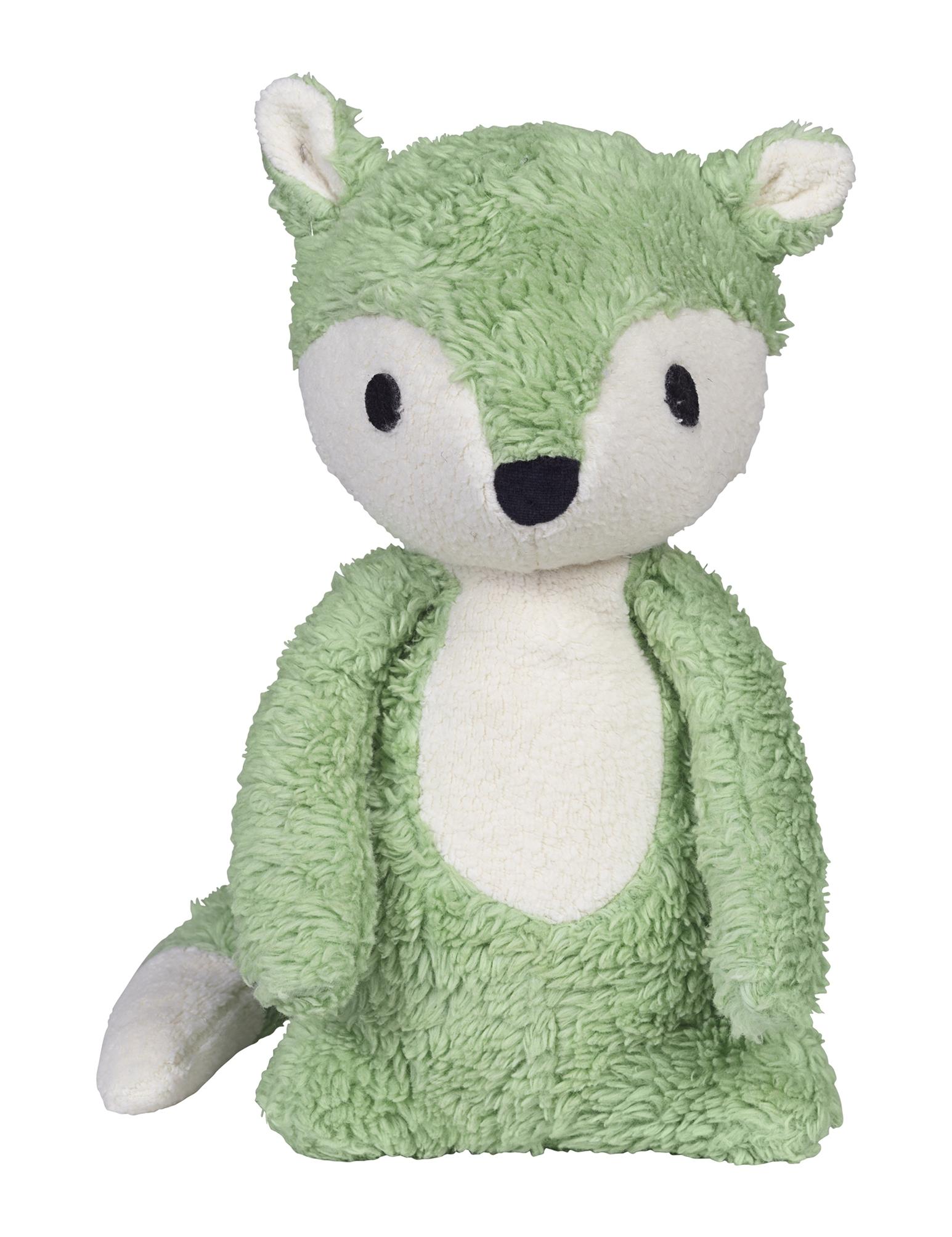 Peluche Mikkel renard  vert