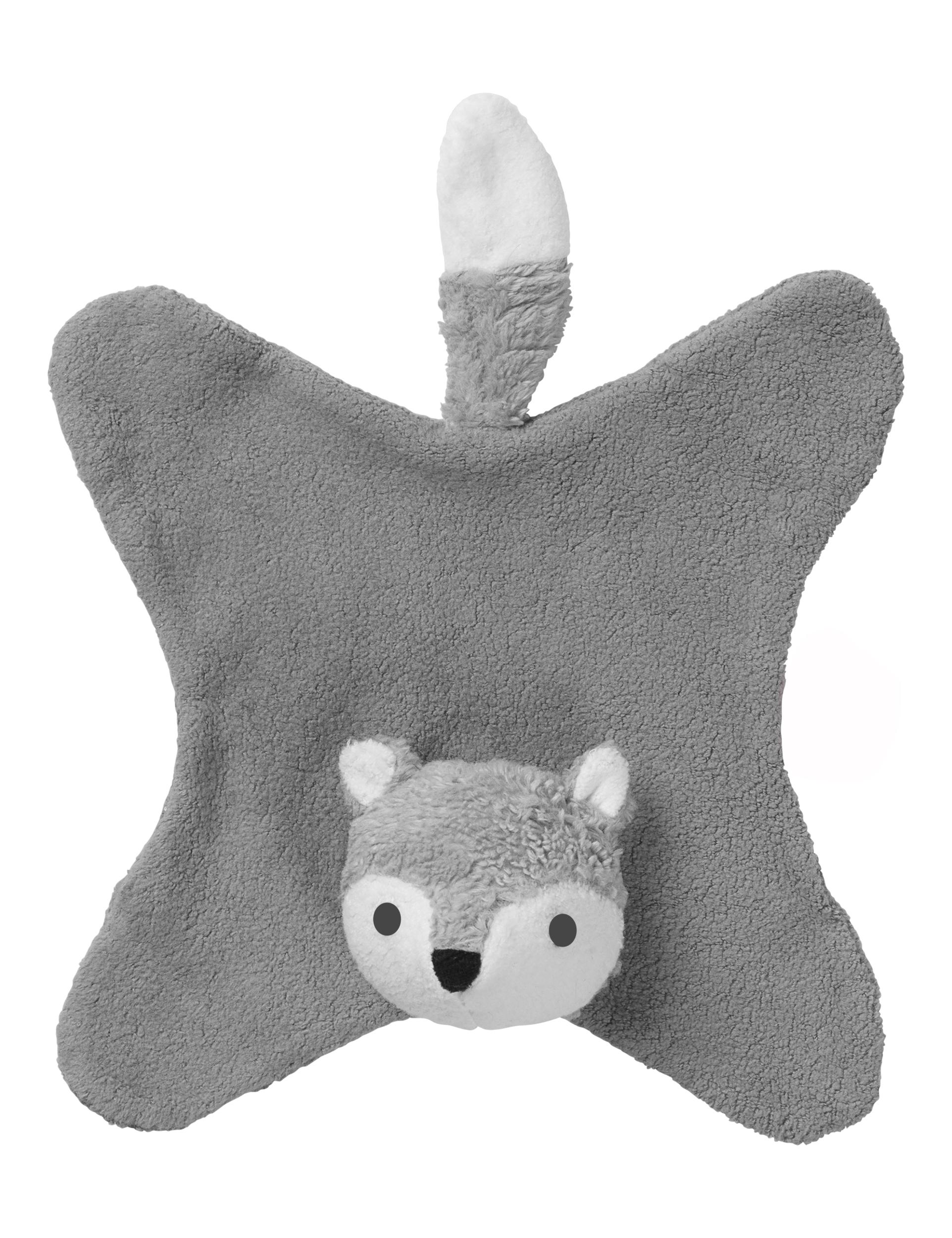 Doudou Anika renard gris
