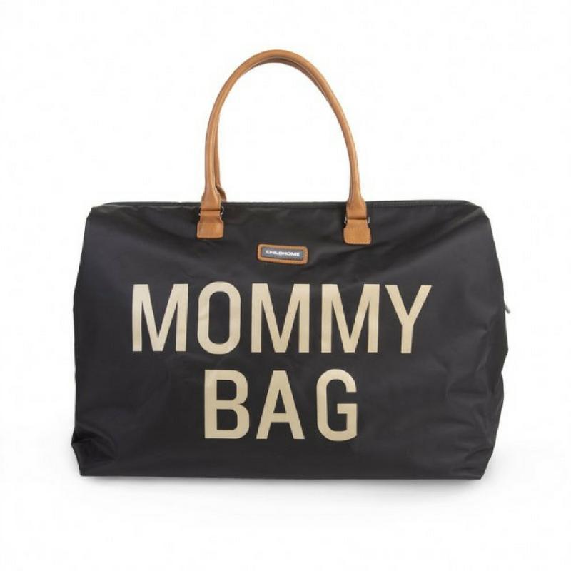 MOMMY BAG NOIRE & DORE ANSE CAMEL