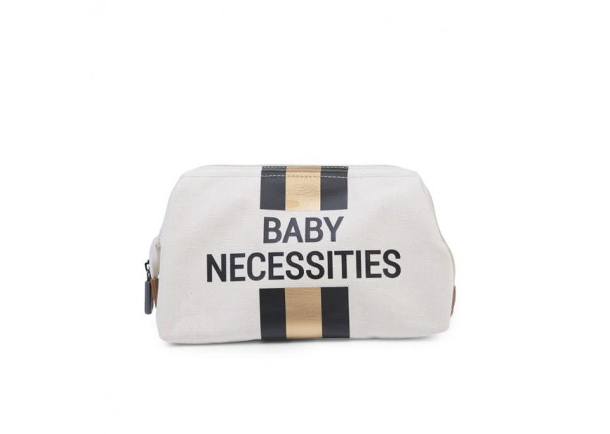 Pochette BABY NECESSITIES beige rayé noir & or