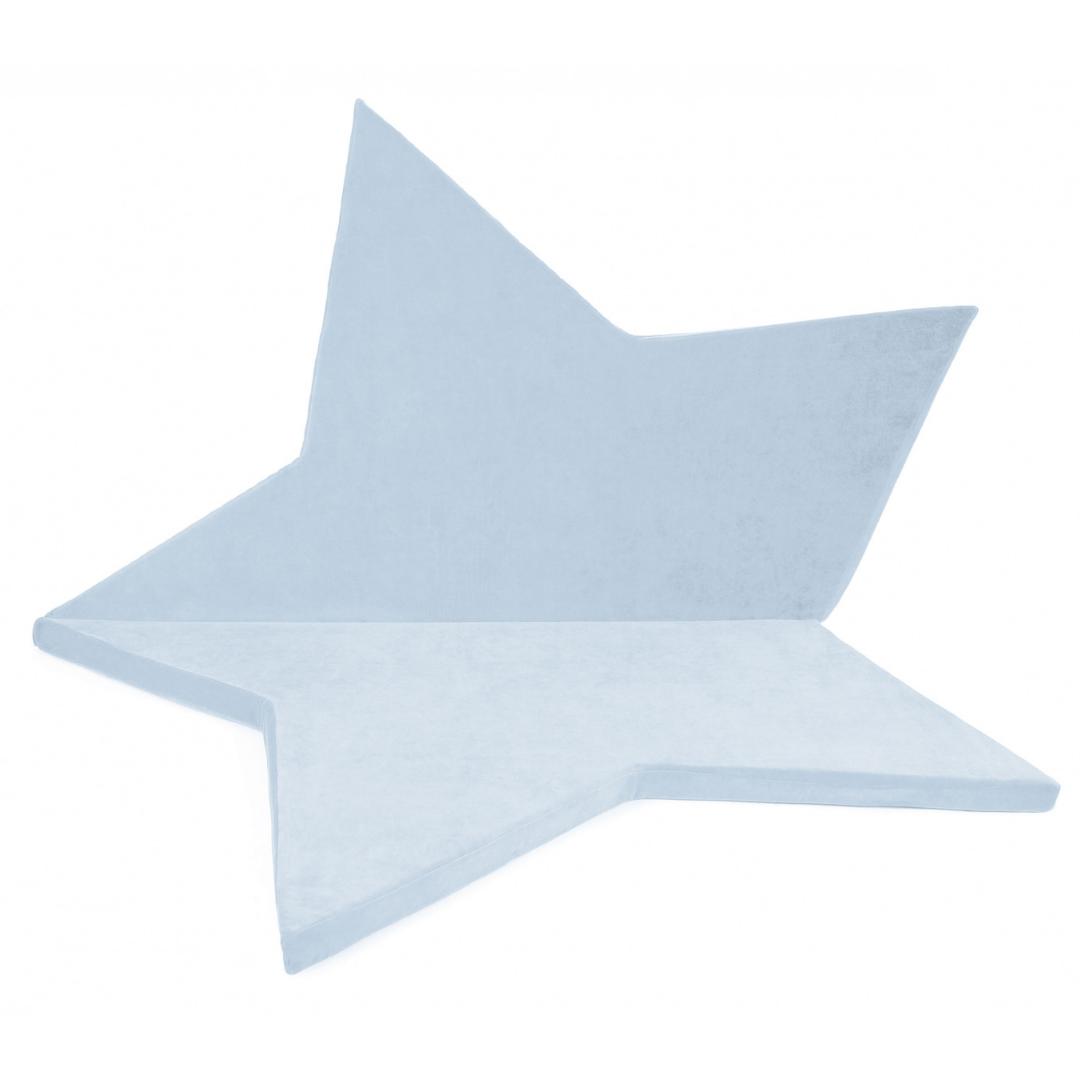 Matelas de sol étoile bleu pastel