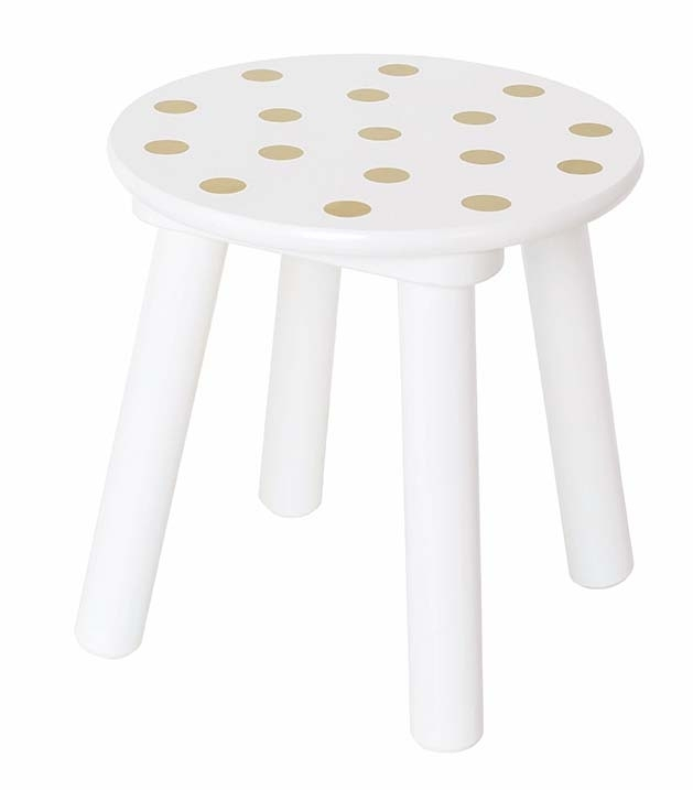 Tabouret pois or