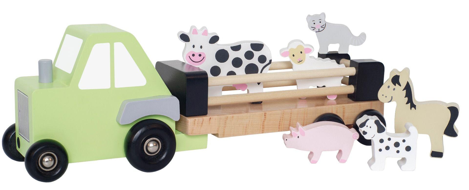 Camion remorque animaux bois