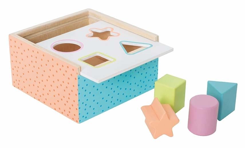 Boîte d\'éveil bois multi-color