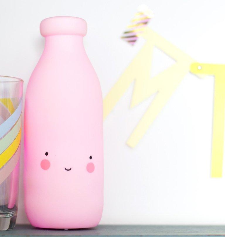 Mini-lampe Bouteille de lait: Rose