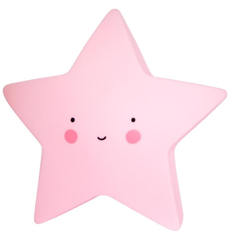 Veilleuse étoile - rose