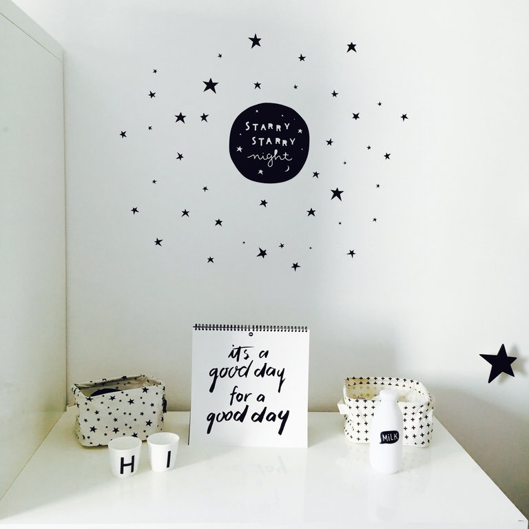 Stickers muraux : Starry night A LITTLE LOVELY COMPANY