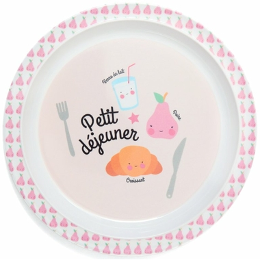 Melamine_plate_petit_dejeuner_pink_MPB23