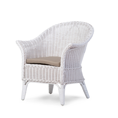 MIMO KID WICKER CHAISE BLANCHE+ COUSSIN