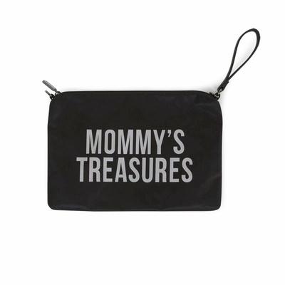 MOMMY CLUTCH BLACK-SILVER