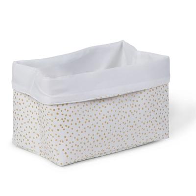 CANVAS BOX FOLDABLE 32x20x20 PETITS POINTS DORES
