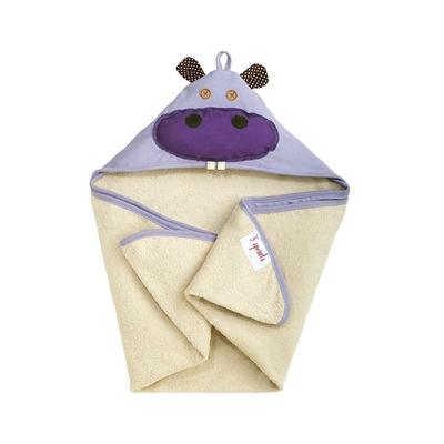 Serviette de bain avec capuche Hippopotame