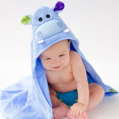 Serviette de bain bébé Henry l'hippo