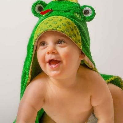 Serviette de bain bébé Flippy la grenouille