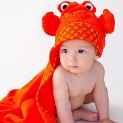 Serviette de bain bébé Charlie le crabe